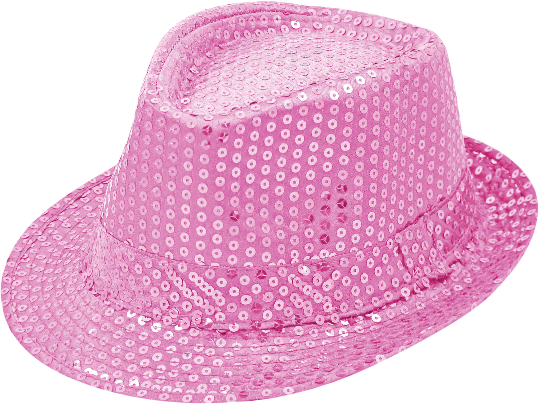 Pailletten-Hut rosa