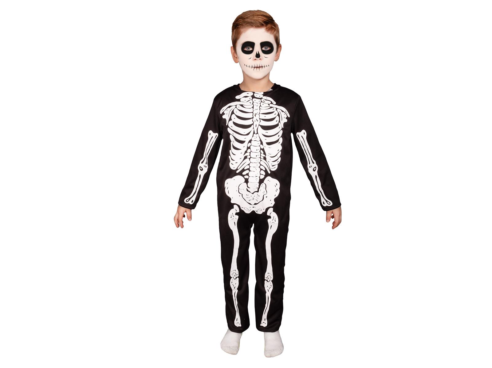 Kinder Kostüm Overall Skelett