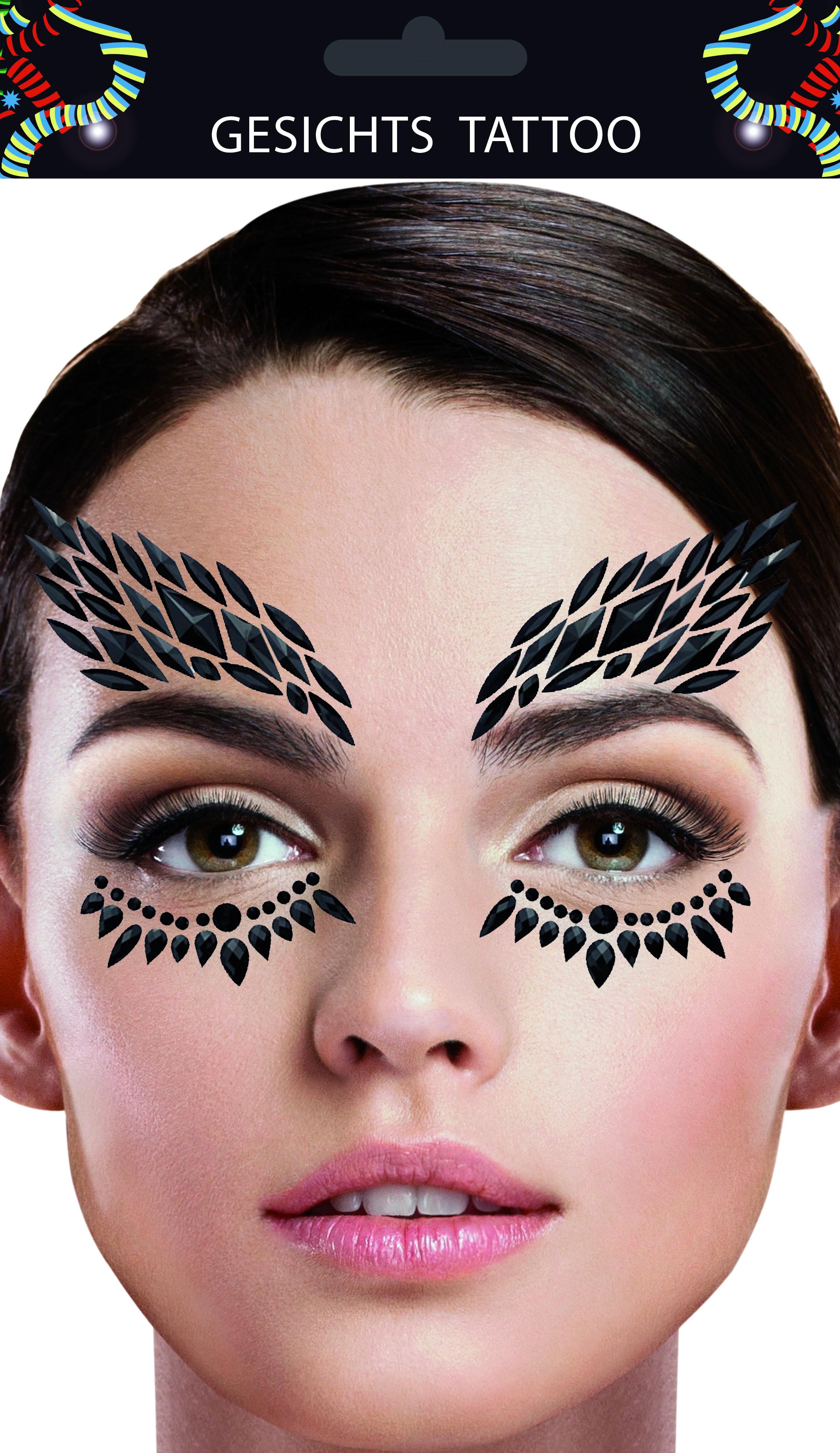 Gesichts-Tattoo schwarzer Schwan