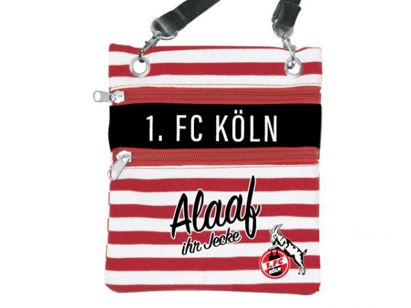 """1. FC Köln Umhängetasche Ringel """"Alaaf ihr Jecke"""""""