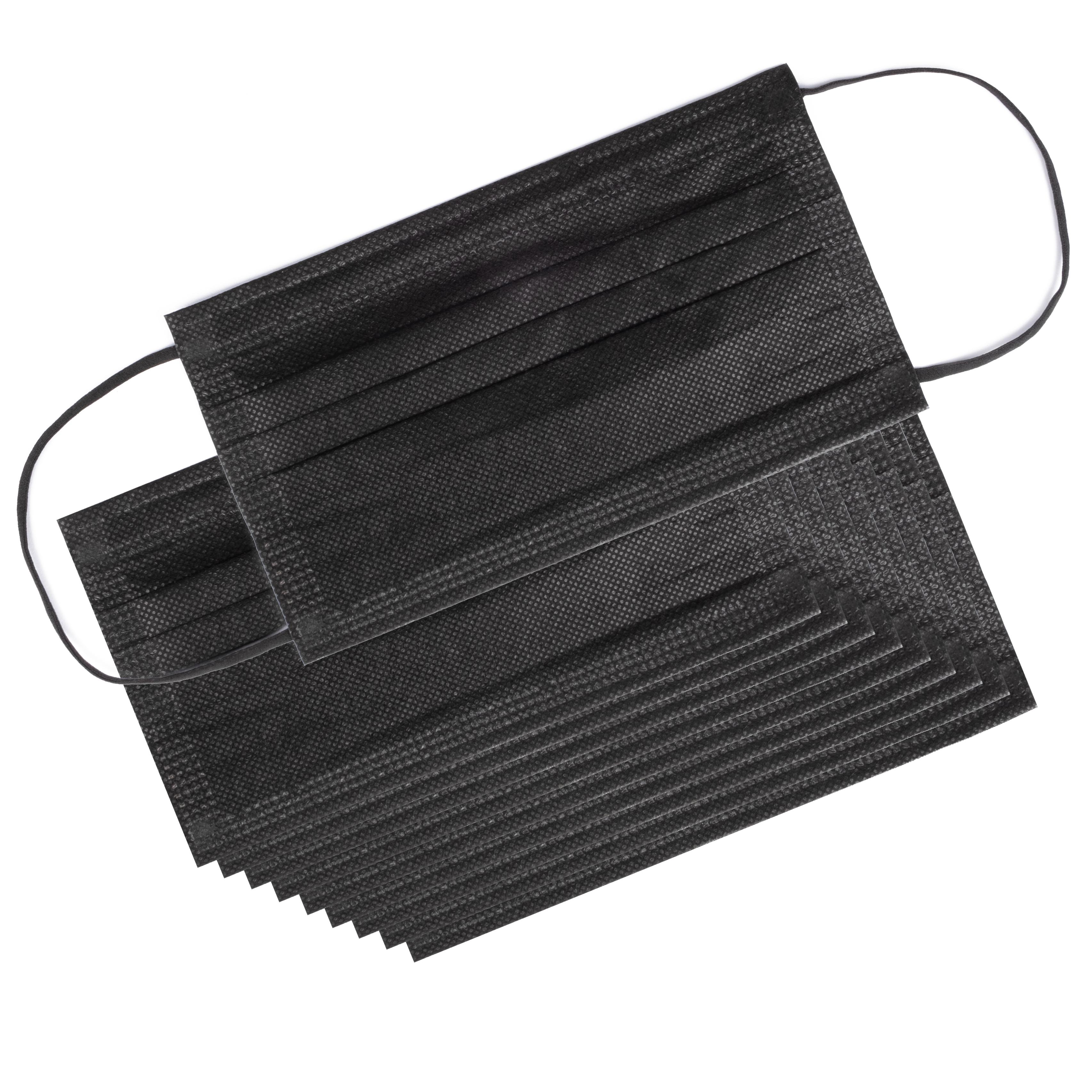-> MNS 3-lagig Einwegmaske 10er Paket schwarz