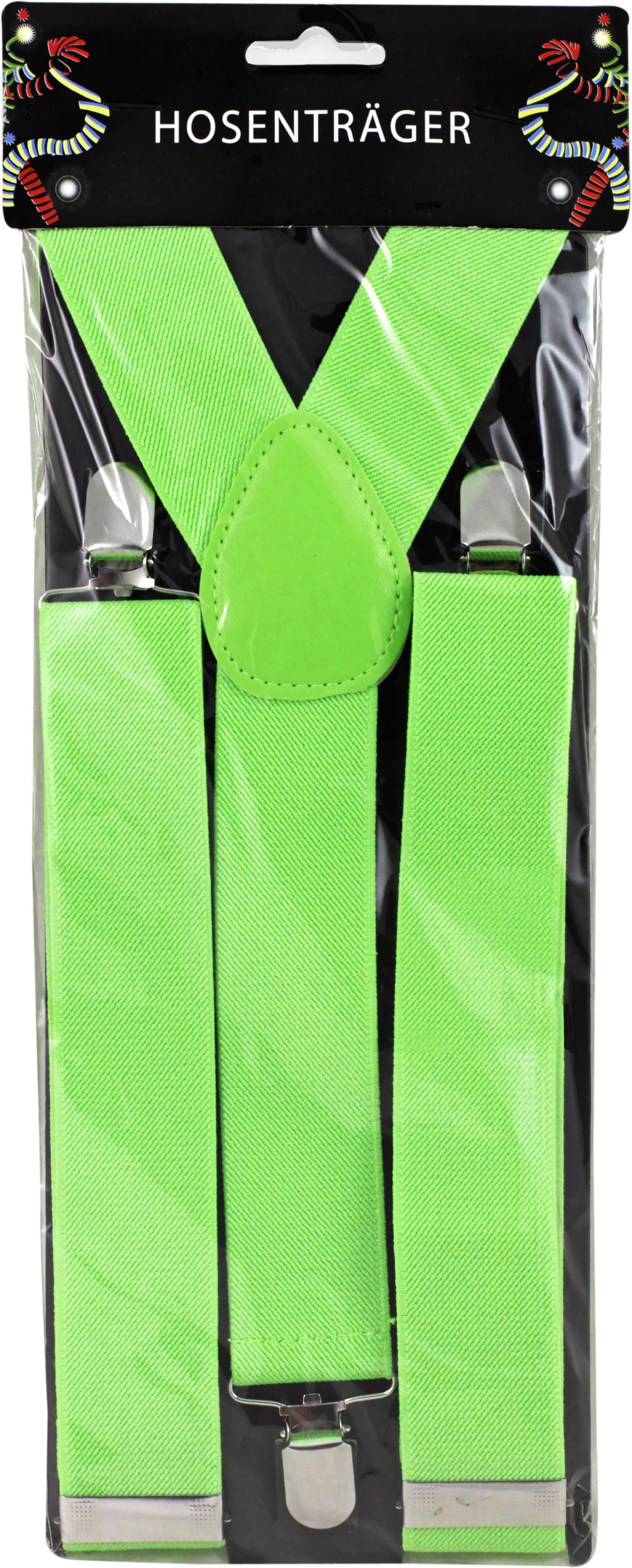 Hosenträger breit neon grün