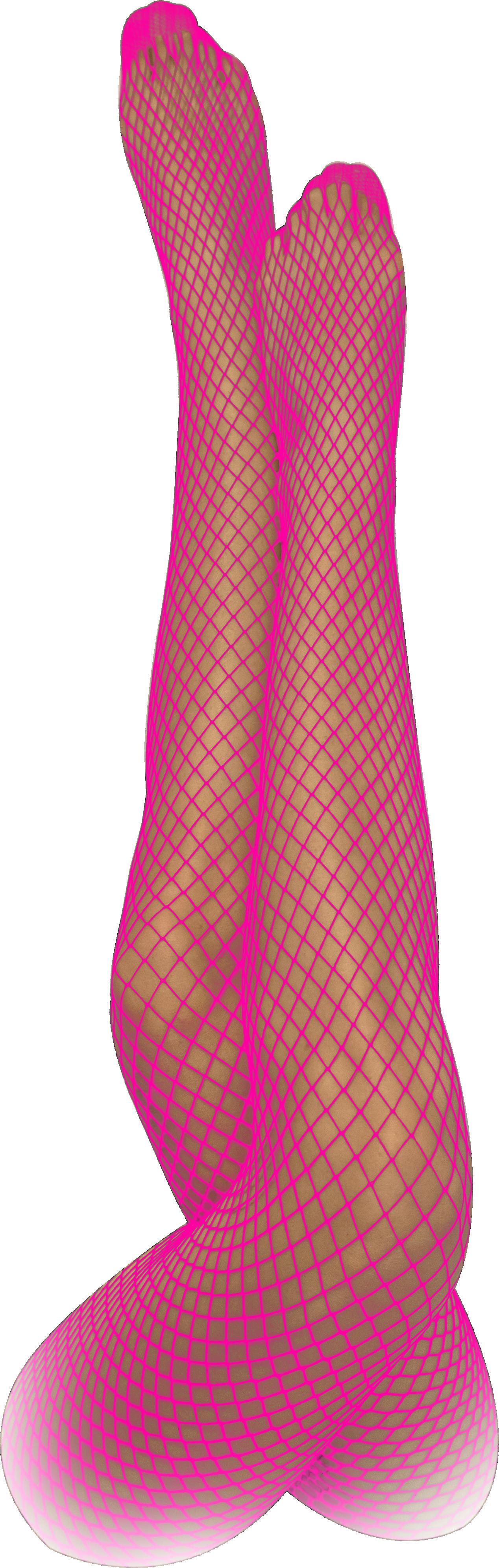 Netzstrumpfhose pink