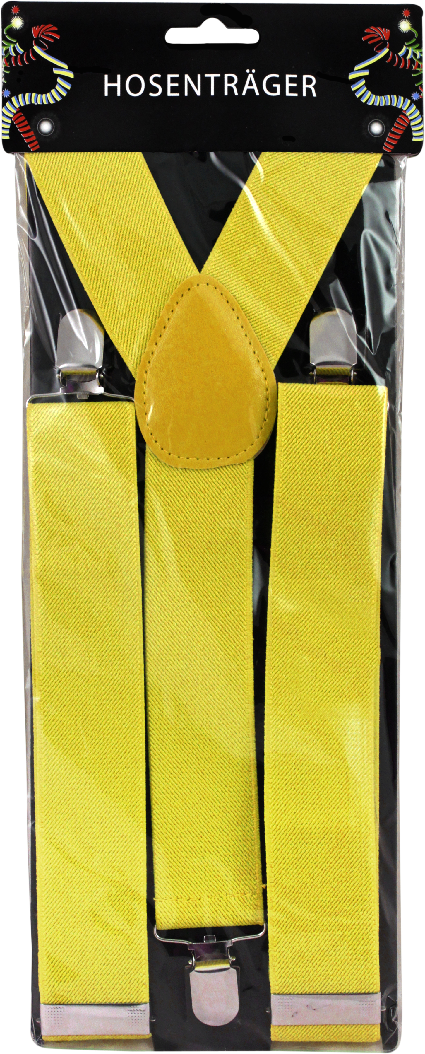 Hosenträger breit gelb