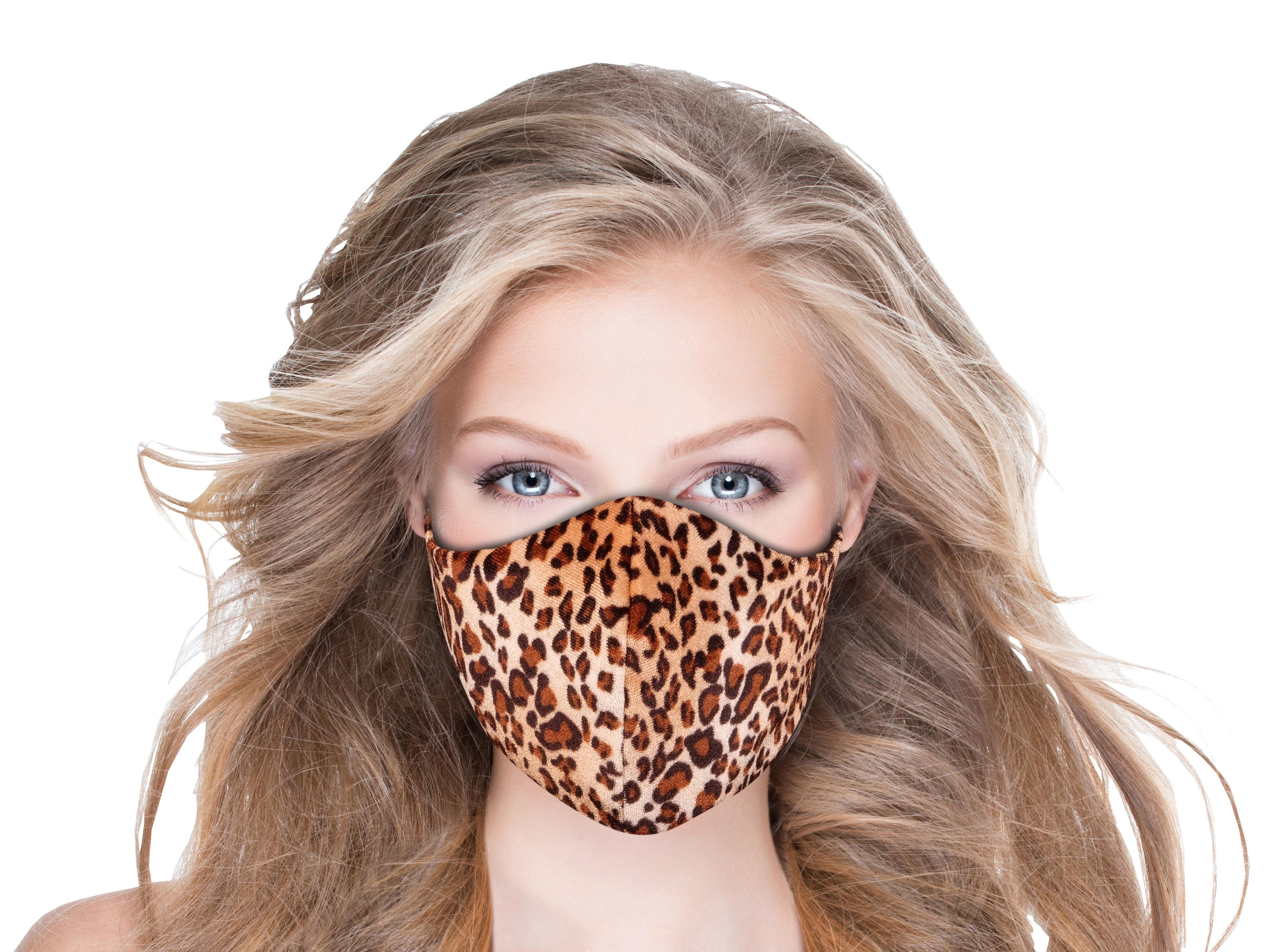 Stoffmaske mit Geparden-Muster